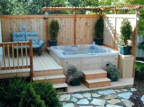backyard hot tub design ideas hot tub in small backyard seoandcompany co