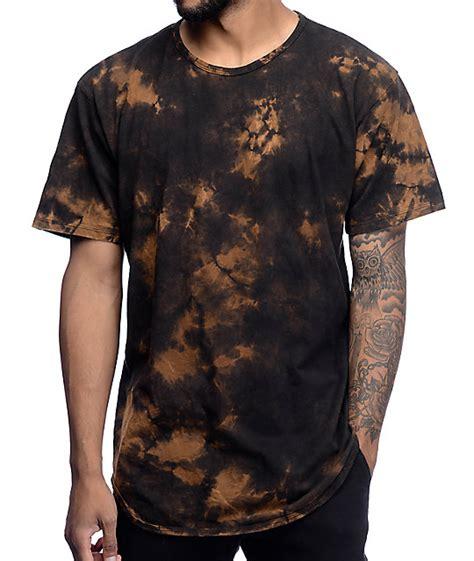 bleach pattern t shirt eptm splatter bleach og black elongated t shirt zumiez