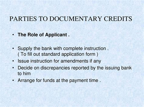 Otp Bank Letter Of Credit documentary credits powerpoint slides