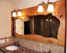rustic vanity mirrors for bathroom rustic bathrooms rustic vanities log home bathroom