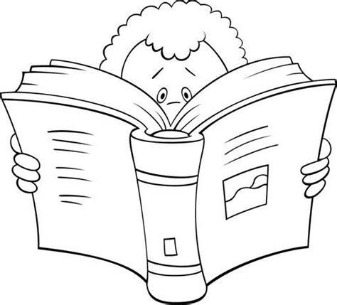 imagenes niños leyendo dibujos de ni 241 os leyendo libros para colorear imagui