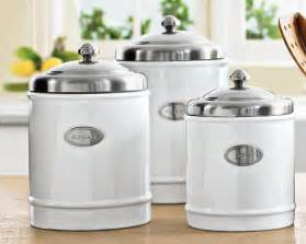 White Kitchen Canister Set by Cute Canisters Classic Ceramics And Canister Sets