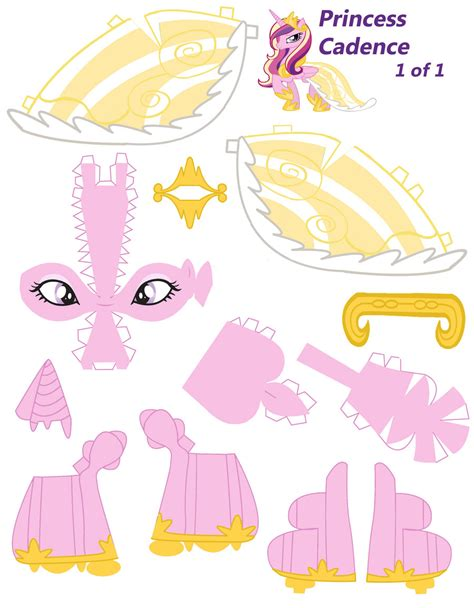 Princess Papercraft - princess cadence papercraft part 1 by nodreams on deviantart
