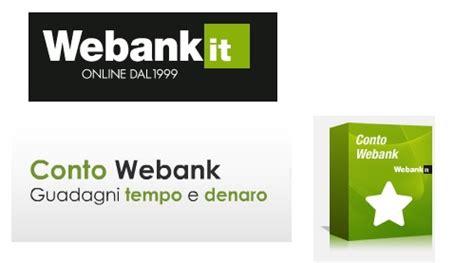 popolare di webank conto corrente webank borsa finanza