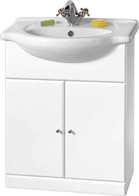 Kitchen Sink Davinci 84x49x21cm 650mm contour vanity unit with one ceramic basin