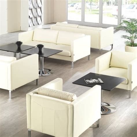 waiting room sofa waiting room 2 5 seater sofa neo leather white aj