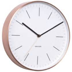 karlsson minimal copper clock white classic wall clock