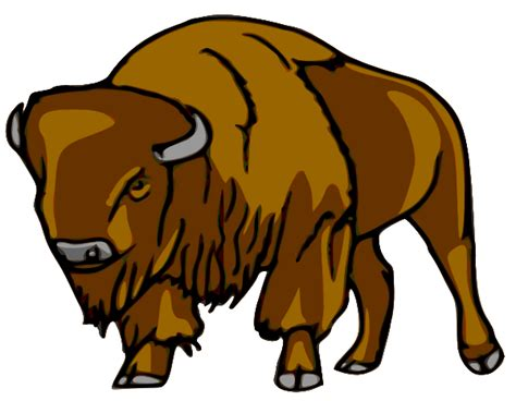 Bison Clipart bison right clip at clker vector clip royalty free domain