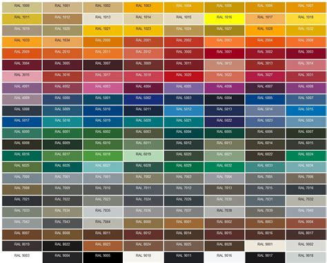 ral color ral chart ral