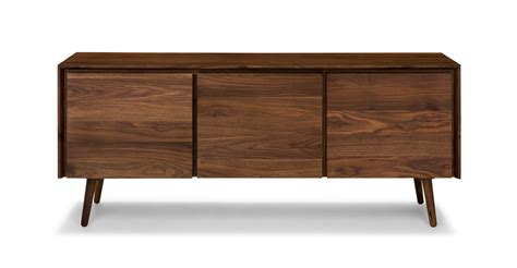 article furniture seno walnut 71 quot sideboard cabinets article modern