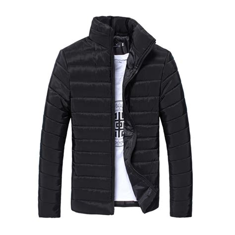 Stand Collar Padded Coat puffer jacket parka padded warm outwear thicken stand