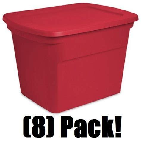 sterilite 19 gal christmas ornament storage 8 sterilite 17316608 18 gallon storage tote containers ebay