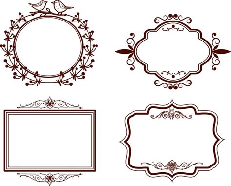 design graphic frame frames design collection classical design in various