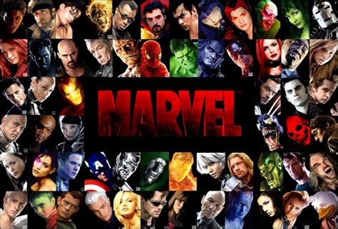 marvel film with all characters live action marvel characters comics pinterest live