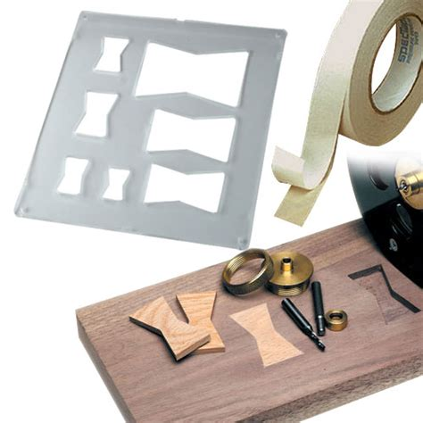 router jigs templates butterfly inlay kit package