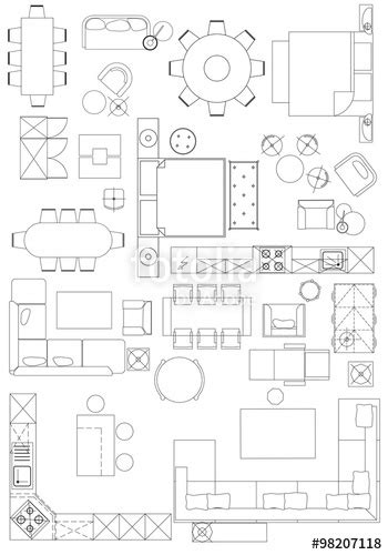 standard furniture symbols used in architecture plans quot standard furniture symbols used in architecture plans