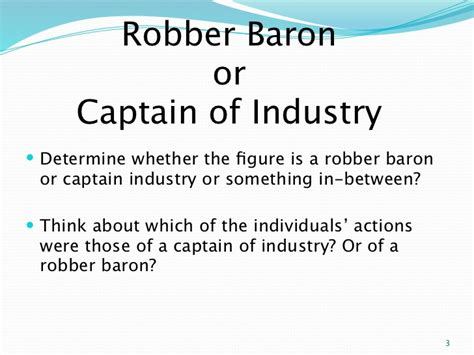 Or Of Robber Baronsor Captainsofindustryppt
