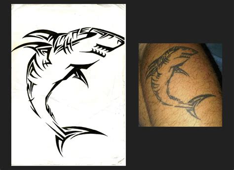 tribal shark tattoos tribal tiger shark