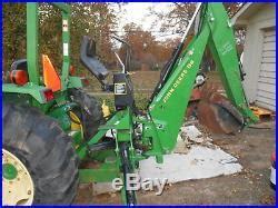 990 john deere 4wd tractor/jd 300cx loader/jd 8b backhoe