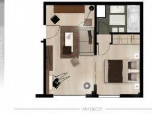 Studio Apartment Floor Plans am 233 nagement studio parisien par mh deco