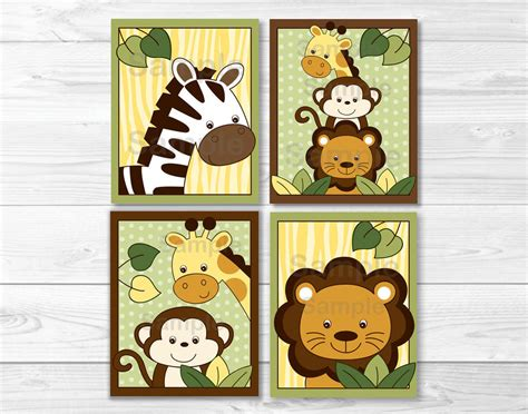 printable animal pictures for nursery safari jungle animal nursery wall art printable ebay