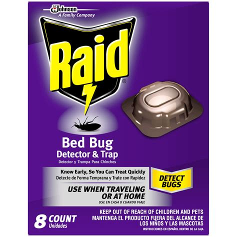 Raid Bed Bug Spray Reviews by Raid Bed Bug Detector Trap 8 Ct Insecticide 8 Ct Box