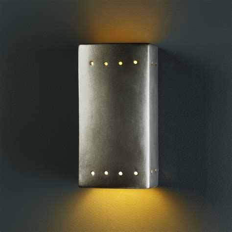Justice Design Group Sconces Justice Design Group Ambiance Open Top And Bottom 1 Light
