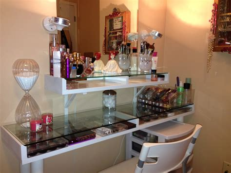 saving small spaces dressing room organization with makeup