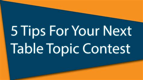 toastmasters table topics tips toastmasters 5 tips for your table topic contest