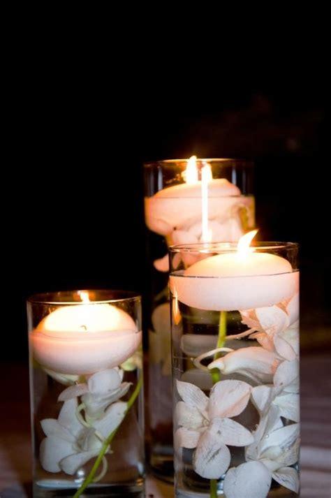 candle centerpieces for home floating candles centerpieces with flowers for wedding