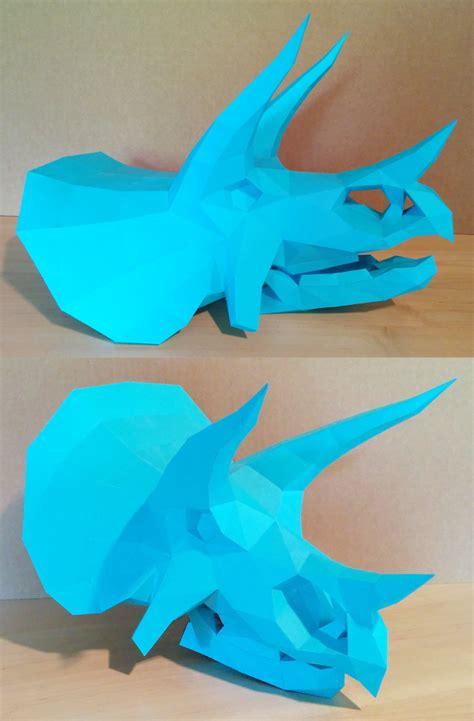 Dinosaur Papercraft Templates - triceratops skull papercraft by gedelgo on deviantart