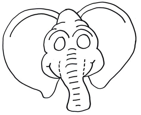elephant mask coloring pages elephant mask coloring pages