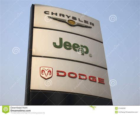 dodge jeep logo chrysler jeep dodge logo editorial photography image of