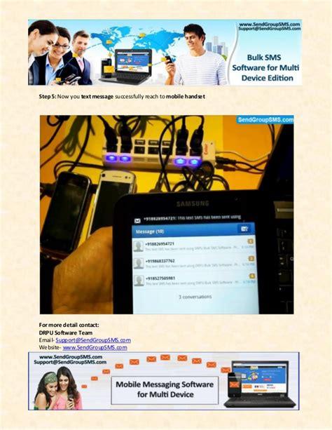 sms via to mobile send sms via multi mobile phone device