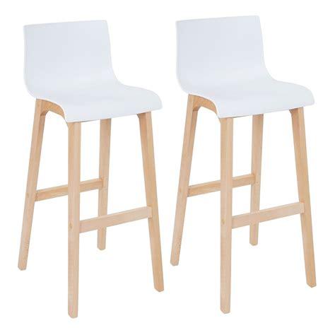 sgabelli plastica coppia sgabelli con schienale saskatoon legno plastica