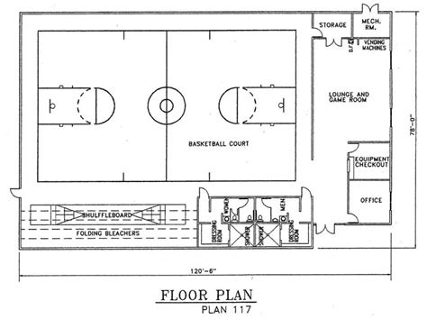 church gym floor plans church gym floor plans church plan 117 lth steel structures