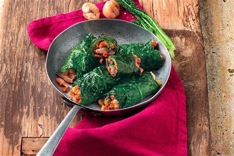 cucina cavolo nero ricetta involtini di cavolo nero alle castagne e pancetta