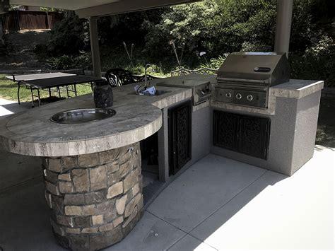 extreme backyard design custom outdoor kitchen with rock extreme backyard designs