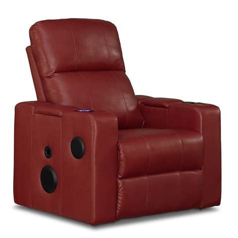 reclining with light up cup holders leather recliner with built in speakers usb ports power