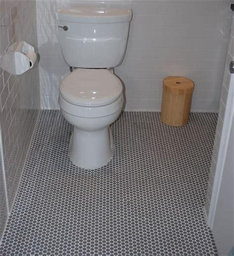bathroom ceramic tile ideas for bathrooms with round gray penny round porcelain mosaic tile floor tile pom0103