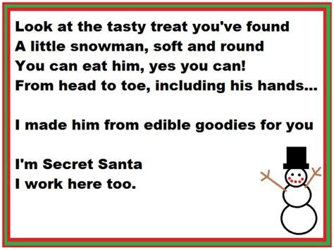 secret rhymes secret santa or silly santa secret pal ideas from author
