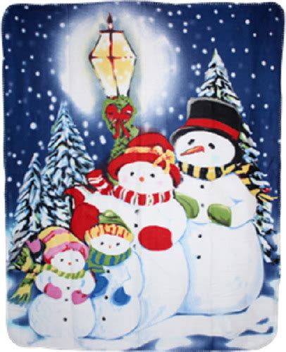 merry christmas snowmen caroling  polar fleece blanket throw ebay