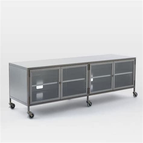 industrial media console metal industrial media console large west elm