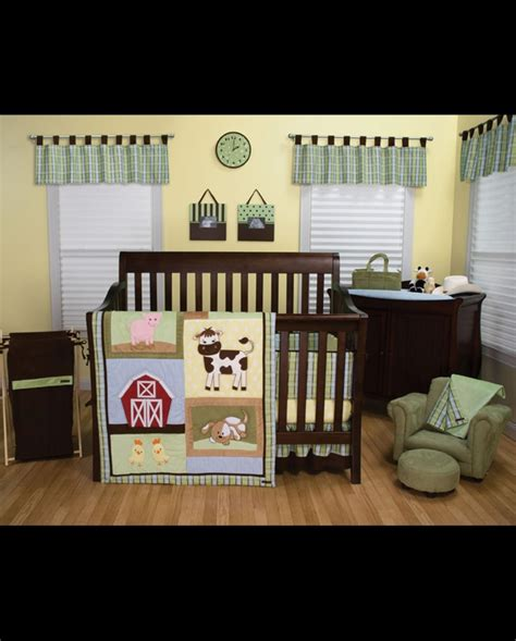 baby barnyard crib bedding set 4 fort brands