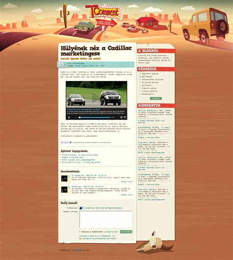 blog design and layout tcomment car blog design by floydworx on deviantart