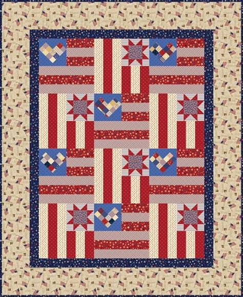 Patriotic Quilt Pattern by Quilt Inspiration Free Pattern Day Patriotic And Flag Quilts