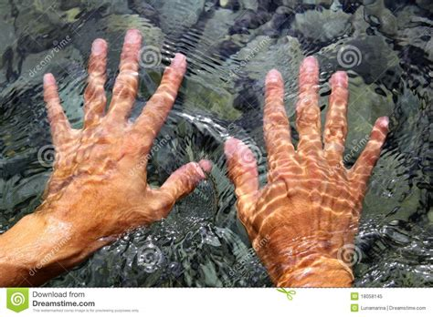 hands underwater river water wavy shapes royalty free