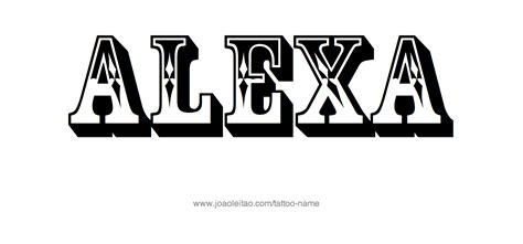 design photo with my name alexa name tattoo designs