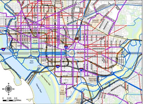 washington dc lanes map every s going to prioritize pedestrians movedc s
