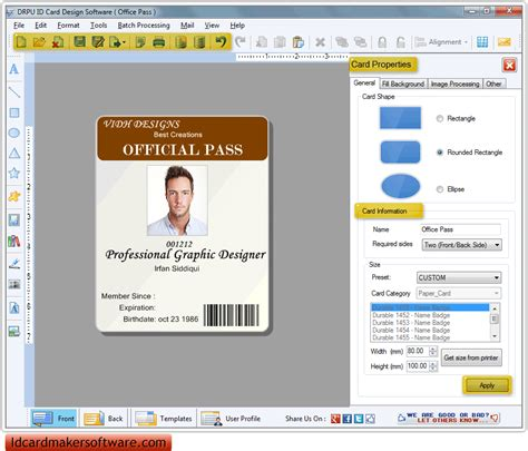 software to make id cards id card maker software employee visitor student